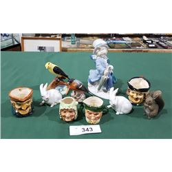 LOT OF 10 PORCELAIN COLLECTIBLES