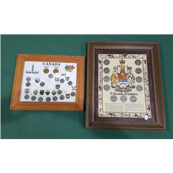 2 FRAMED COIN SETS