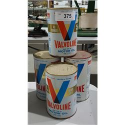 4 VALVOLINE OIL QUARTS-FULL