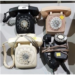 4 VINTAGE ROTARY DIAL TELEPHONES