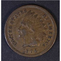 1908-S INDIAN HEAD CENT FINE KEY COIN