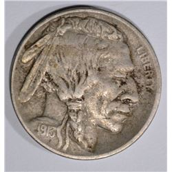 1913-S T-1 BUFFALO NICKEL, XF