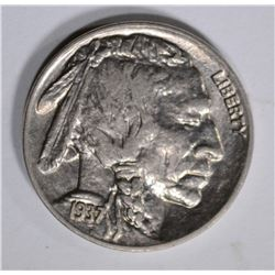 1937-D BUFFALO NICKEL GEM BU