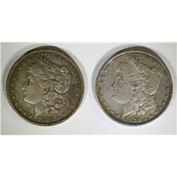 1878 7F XF & 1878-S VF MORGAN DOLLARS