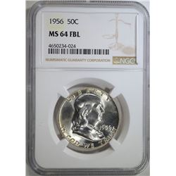 1956 FRANKLIN HALF DOLLAR NGC
