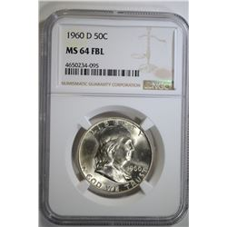 1960-D FRANKLIN HALF DOLLAR NGC