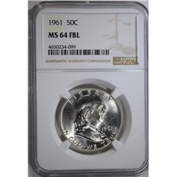 1961 FRANKLIN HALF DOLLAR NGC
