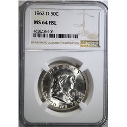 1962-D FRANKLIN HALF DOLLAR NGC