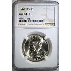 1963-D FRANKLIN HALF DOLLAR NGC