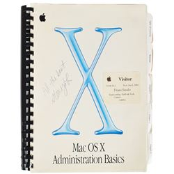 Steve Jobs Signed Apple Mac OS X Manual