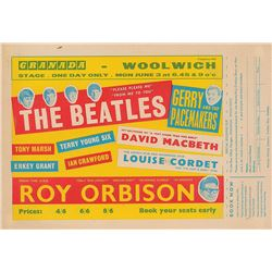 Beatles 1963 Granada Cinema Handbill