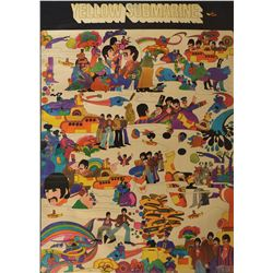 Beatles 1968 Yellow Submarine Poster