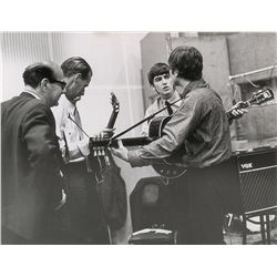 Beatles and George Martin Original Photograph