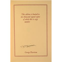 George Harrison Signed Book