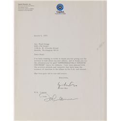 John Lennon and Yoko Ono Typed Letter Signed