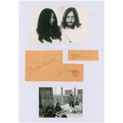 John Lennon and Yoko Ono Signatures