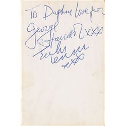 John Lennon and George Harrison 1963 Signatures