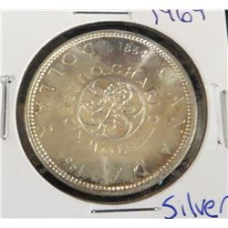1964 Canadian Silver Charlottetown $1 Coin