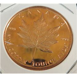 1 Ounce Canadian Maple Copper Coin