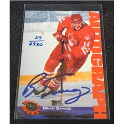 1994 Classic Autographs #34 Brian Savage