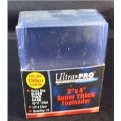 "Ultra Pro 3""x4"" Super Thick 130pt Top Loaders"