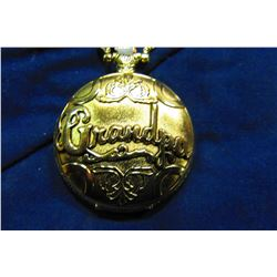 "NEW GOLDTONE ""GRANDPA"" POCKET WATCH"