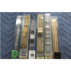 SIX NEW ASSORTED WATCH STRAPS - CHOICE