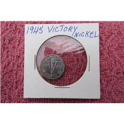 1945 CANADIAN VICTORY NICKEL