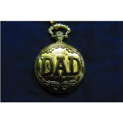 "NEW GOLDTONE ""DAD"" POCKET WATCH"