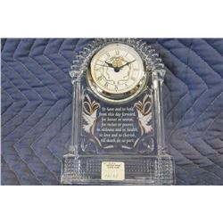 NEW CRYSTAL WEDDING VOW MANTLE CLOCK