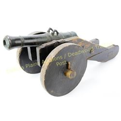 19th century cast bronze signal cannon