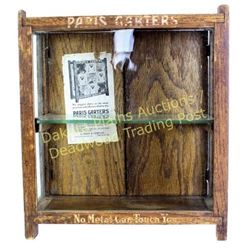 Antique Paris Garters display case