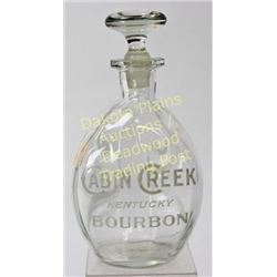 Original Cabin Creek Bourbon pinch back bar bottle