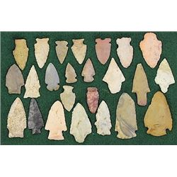 Collection of 24 authentic stone arrowheads