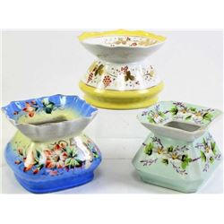 Collection of 3 porcelain spittoons