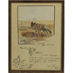 Illustrated letter by Assiniboine artist