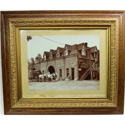 Large original framed photo of Hot Springs SD