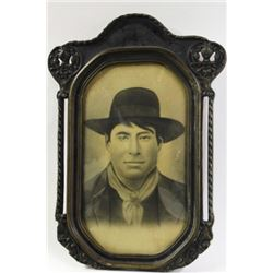 Early original portrait of young cowboy