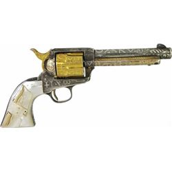 Cole Agee brand engraved, gold wash Colt