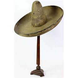 "C. 1890's Mexican felt sombrero 10"" crown"