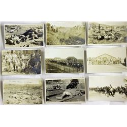 Collection of 16 real photo post cards and book,