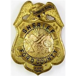 Named eagle shield badge Ford County