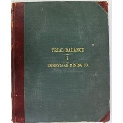 Original Homestake Mining 1906-1916 trial balance