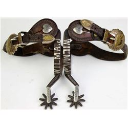 C.1920s unmarked lady's leg spurs