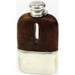 Gentleman's Tiffany stamped whiskey flask