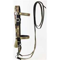 Walla Walla hitched horsehair bridle with bit