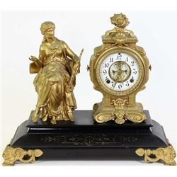 Ansonia statue shelf clock