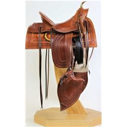 Outstanding half scale miniature saddle
