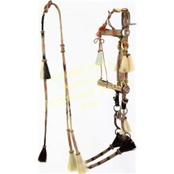 Deer lodge prison made hitched horse hair bridle