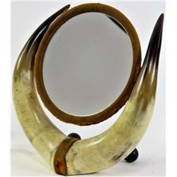 Horn table top mirror c.1880s-1890s